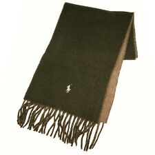 POLO RALPH LAUREN Men SOLID CLASSIC REVERSIBLE PONY WOOL WINTER SCARF