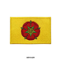 LANCASHIRE County Flag Embroidered Patch Iron on Sew On Badge For Clothes Etc