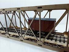 O Gauge Model Railway Single Track Laser Cut Girder Bridge Kit 4mm MDF 60cm Long