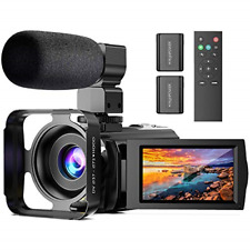 Video Camera with Microphone, Anteam FHD 1080P 30FPS 24MP Digital Vlogging 16X 3