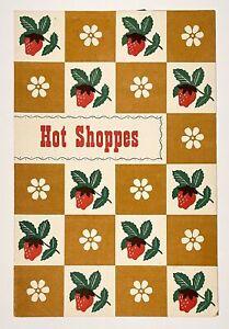 Hot Shoppes Washington DC Original Vintage 1955 Restaurant Menu