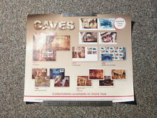 Australia Post Promotional Poster. (52cm by 43.5cm). Caves.