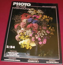 zeitschrift photo technik international 2 / 84 foto news technik markt heft 1984