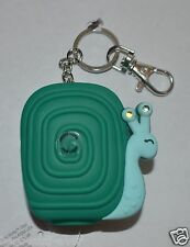 BATH BODY WORKS GREEN SNAIL LIGHT UP POCKETBAC HOLDER HAND GEL SANITIZE KEYCHAIN