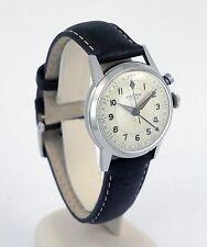 Stunning Near-Mint Original 1950s Vulcain Cricket Stainless Steel Alarm Watch