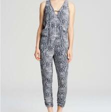 Michael Stars Jumpsuit Animal Print Snake Skin Size XS Black Pants Romper B5