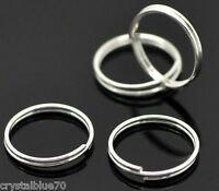 200 x 4, 5, 6, 7, 8mm Silver Plated Double Loop Split Rings 100 x 10  12 14 16mm