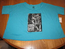 DC Juniors Womens XL Teal t shirt surf sk8 skate  TEE NWT^^