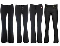 Miss skinny bootcut hipster stretch black sexy school trousers size 6-14