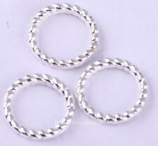 60Pcs Lovely Silver/Gold/Bronze/Copper Twist-Ring Charm Finding For Jewelry 8mm