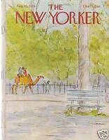 1979 New Yorker August 13 - Camel ride in the Park