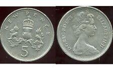 ROYAUME UNI   five   5  pence 1975  ( bis )