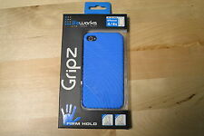Life Works Gripz Firm Hold For iPhone 4/4S Blue Case Brand New 9E