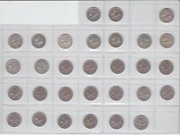 1933-1965 3p Threepence Coin Set Only missing one New Zealand NZ
