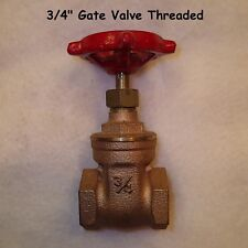 "[Quantity of 1] Brass 3/4"" Iron Pipe Gate Valve"