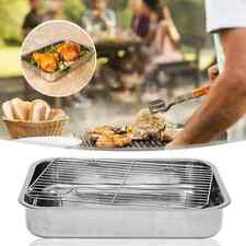 Stainless Steel Deep Roasting Lasagna Pan Roaster & Rack For Chicken Turkey Meat