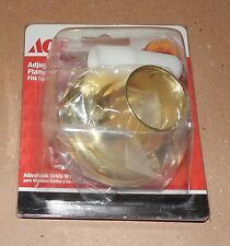 Ace Hardware Adjustable Polished Brass Flange & Nipple Short & Long 46595 105Q