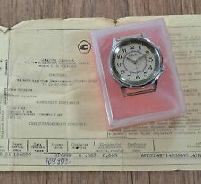 N.O.S Men`s Vintage USSR SOVIET Russian mechanical watch POLJOT ALARM VIBRATES