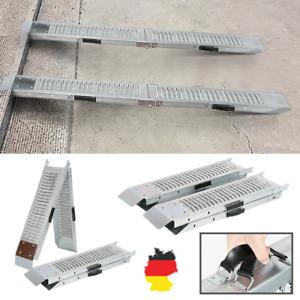 2x Faltbare Rampe max. 400 kg Auffahrrampe Laderampe klappbar Verladerampe -