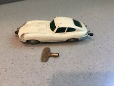 Vintage Schuco Micro-Racer Jaguar E-Type White 1960´s Wind Up with Key Works