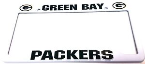 2  Green Bay Packers Plastic LICENSE PLATE FRAME  Sports Room Must