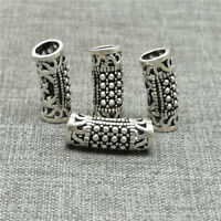 4pcs of 925 Sterling Silver Marcasite Style Curve Tube Beads for Bracelet