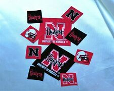 University of Nebraska Cornhuskers Fabric Iron On Appliques, Patchs 10 Pc