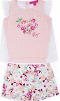 NWT BABY GIRL  2pc FLORAL/LACE BETSEY  JOHNSON OUTFIT SIZE 6-9m