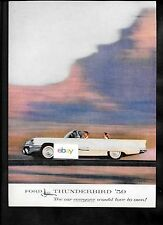 FORD THUNDERBIRD FOR 1959 THE CAR EVERYONE WOULD LOVE TO OWN CONVERTIBLE AD