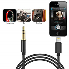 Lightening to 3.5mm Jack Male CAR Audio AUX Lead Cable for iPhone 7 8 X XS MAXUK