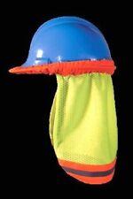 Hi-Viz Lime Mesh Hard Hat Neck Sun Shade