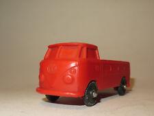 7079:Bulli Pritsche Bus, rot,50er Jahre, aus biegsamen Kunststoff,gebraucht.