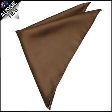 Mens Chocolate Coffee Brown Pocket Square Handkerchief