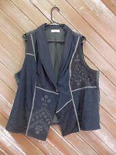 Coldwater Creek Vest  Blue Patchwork Lined Women's Plus Size 2X