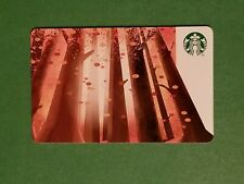 2019 Starbucks Red Wood Trees Gift Card Reloadable Empty RARE Forest