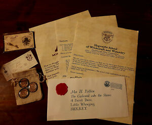 Personalised Harry Potter Acceptance Letter Gift Pack - Mega 2 Pack Customised
