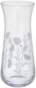Dartington Crystal Bloom small vase, poppy flower, etched glass 18.5cm
