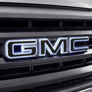 2019-2022 GMC Sierra Illuminated Front Grille Emblem 84741559 Black OEM GM INSTK