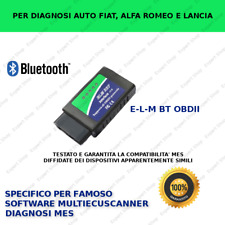 INTERFACCIA OBD BLUETOOTH PER SOFTWARE MULTIECUSCANNER MES TESTATO FIAT
