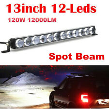 "13""INCH 120W 4D Lens Led Work Light Bar Spot Beam Driving Offroad 4WD Truck Atv"