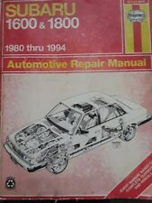 Subaru 1600 & 1800 / 1980-1988 Automotive Repair Manual