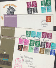 Great Britain 1971 FDC Covers Definitives Decimal Machins Strike Delayed Post