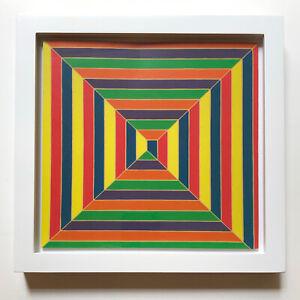 Frank Stella Concentric Squares Offset Color Lithograph Framed JKLFA.com