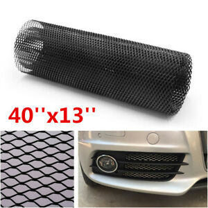 "Universal 40""x13""Aluminum Car Body Grille Net Hexagonal Mesh Grill Section Black"
