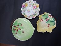 3X  Vintage Carlton Ware  - Royal Albert Small Pin Dishes 1930's Art Deco GIFT