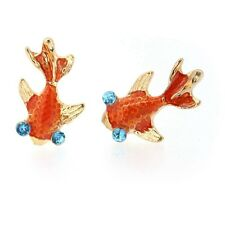 Vintage Retro Cute Enamel Red Goldfish Fashion Sweet Stud Earring New HOT