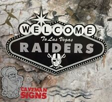 Wall Decor Sign | Raiders Welcome to Las Vegas