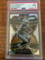 Josh Jacobs 2019 Panini Select #81 Concourse Silver Prizm RC PSA 9 Raiders