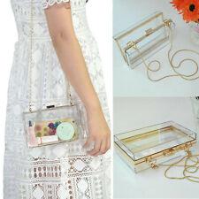 Acrylic Clear Clutches Handbag Women Party Jelly Purses Summer Fashion Box Retro