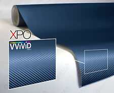 Navy blue carbon fiber 10ft x 5ft car vinyl wrap  VViViD XPO 3d cast sheet roll